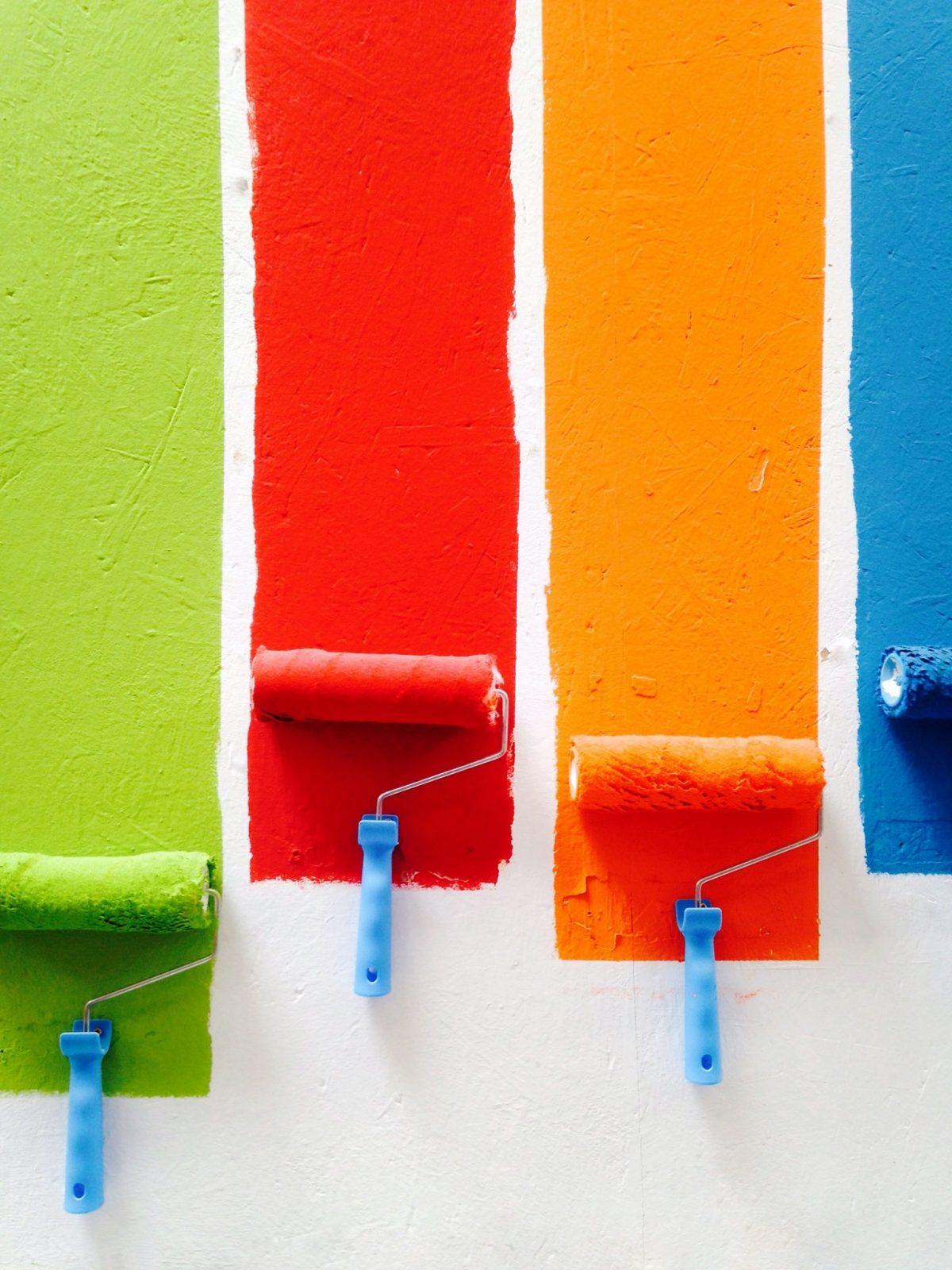 couleur différente sur le mur