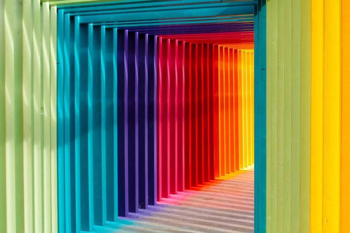 couloir de couleurs différentes
